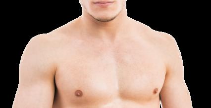 Man's bare torso